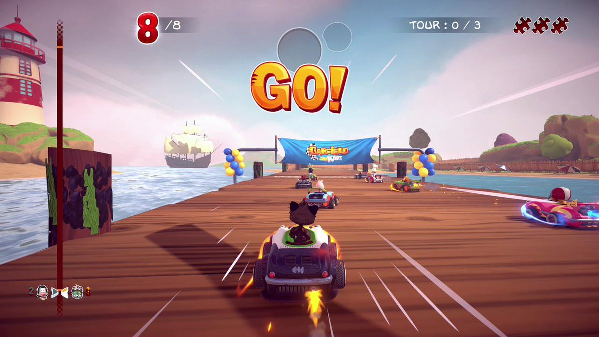 "Microids on Twitter: ""Garfield is back in a crazy racing game ..."