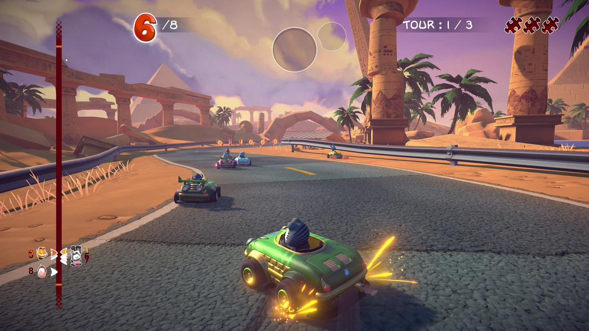 Microids On Twitter Garfield Is Back In A Crazy Racing Game Garfield Kart Furious Racing Will Be Available On Playstation 4 Xbox One Nintendo Switch And Steam On 7 November In