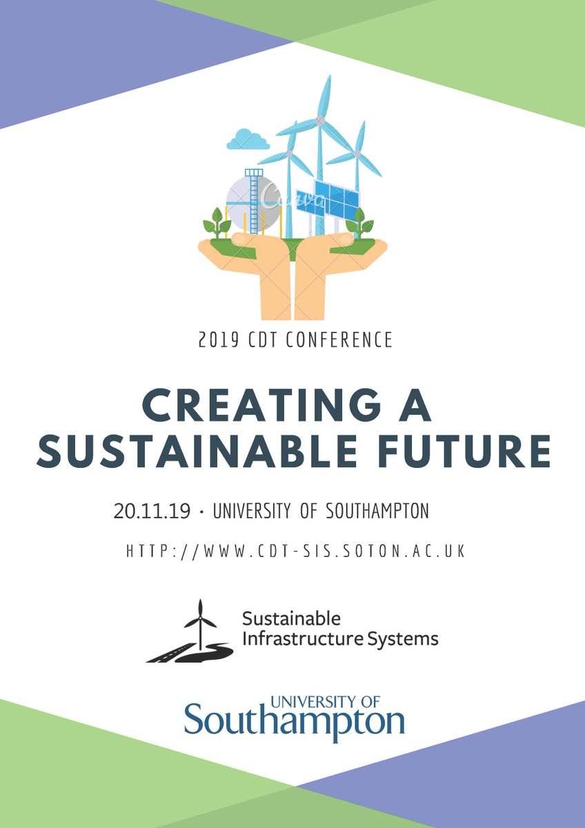 test Twitter Media - The fifth annual CDT SIS conference is taking place on the 20th November 2019 please sign up to attend at: https://t.co/Pmiw4J29BA  Schedule and agenda will be released closer to the event.  @Paul_Kemp_Fish @unisouthampton @SotonEnvSci @UoS_ICER @UoSEngineering https://t.co/4ioFRb5zOH