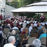 The Richmond Community Concert Band performed their annual concert last night on a beautiful evening on our patio. #augustinehouse #richmondcommunityband #summer #southdelta