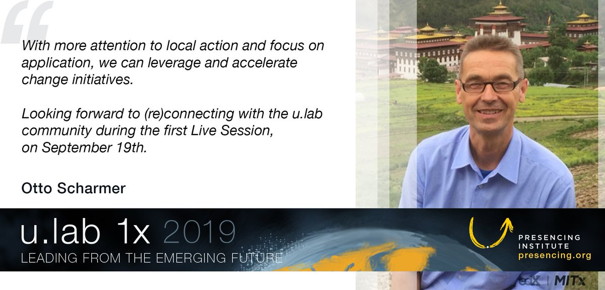 With more attention to local action and focus on application, we can leverage and accelerate change initiatives. -- Otto Scharmer. Reconnect with u.lab, launching again in September: enroll now at edx.org/course/ulab-le…