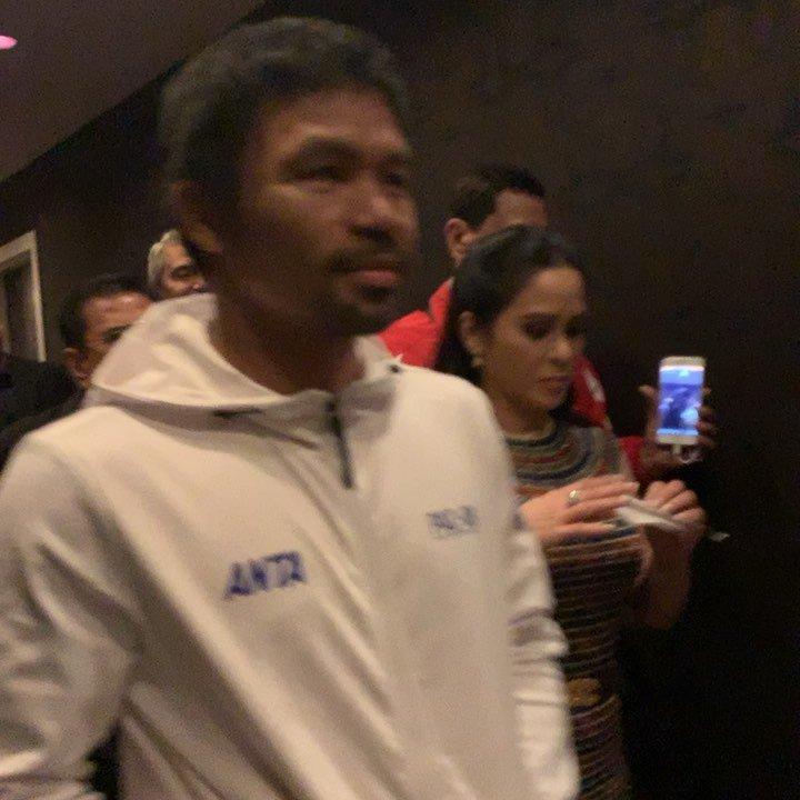 http://cloudcelebrity.com/iv/B0KNuiQFc6H Manny Pacquiao On our way to MGM. #TeamPacquiao #PacThurman