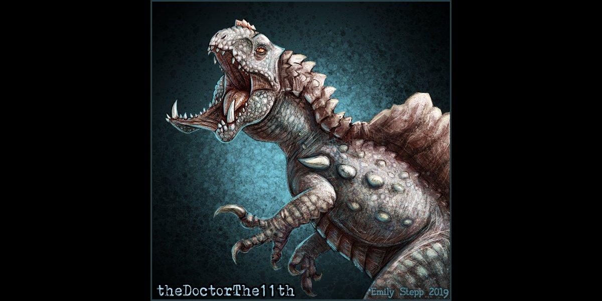 Icon commission of the Indoendocrin Spinedominus Rex for @thDoctorTHE11th #TheIsle #TheIsleFanArt #JurassicWorld #JurassicWorldEvolution #Art #CrossoverArt #DinosaurHybrid #HyperendocrinSpinosaurus #IndominusRex