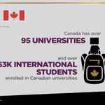Image for the Tweet beginning: Canadian university degrees are recognized