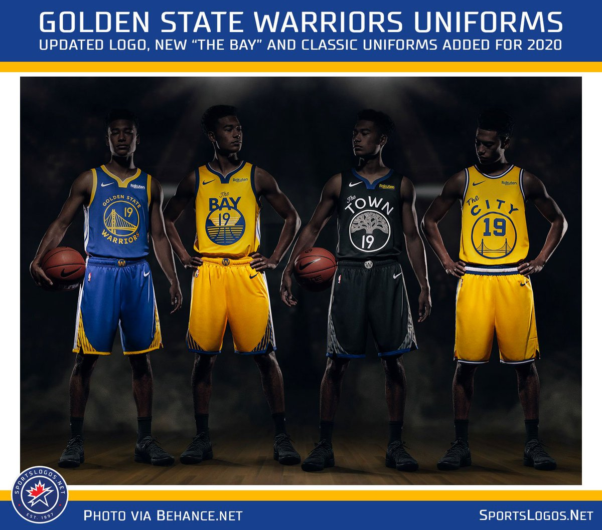 Chris Creamer On Twitter Leaked New Uniforms For The Golden State Warriors Shows New The Bay Uniform Re Introduction Of The City Throwback As Well As The Tweaked Logo And New Number Font
