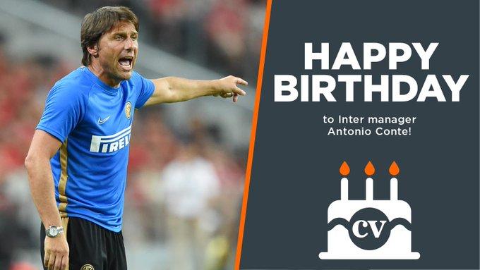Serie A   Premier League FA Cup  Happy birthday to manager Antonio Conte!