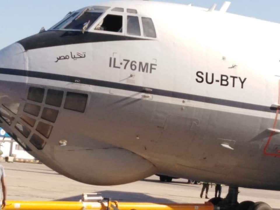 هذه الصورة صحيحية ((IL-76MD-90 بالعلم المصري )) ؟ EAvUP5DW4AEQ0FI