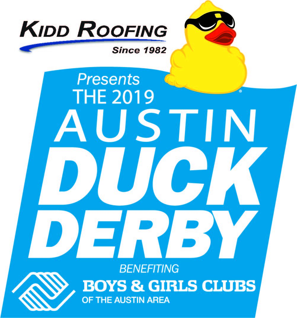 The Austin Duck Derby presented by Kidd Roofing is almost here! Be sure to buy your ducks and support the Austin Boys and Girls Club!