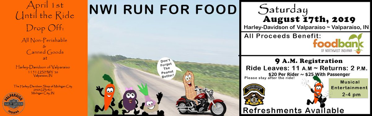 #hdvalpo  #foodbankofnwi #nwindiana  #feedthehungry #local  #harleylovers #motorcycle #livetoride #bikers #harleydavidson #bikelife #harleylife #hdnation #harleydavidsonofinstagram  #loveharley #livefreeridefree #harleystyle #letsride #hdmc #shopharleydavidson  #harleyloverspic.twitter.com/Ajequ88wvE