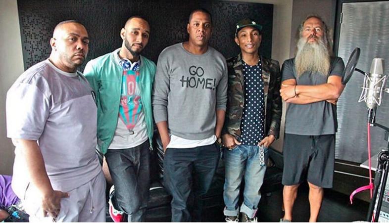 Got a really big team 💥 @Pharrell @S_C_ @THEREALSWIZZZ @RickRubin