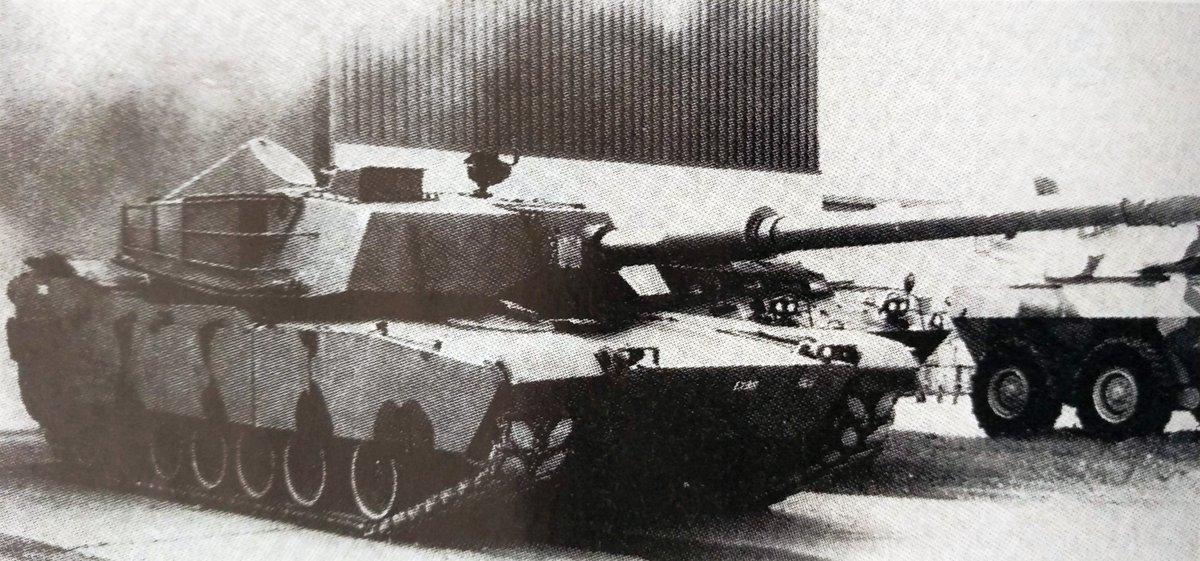 """Artem Beliakov on Twitter: """"and test bed w/XM291 gun - also from Soldat und  Technik 1992-01… """""""