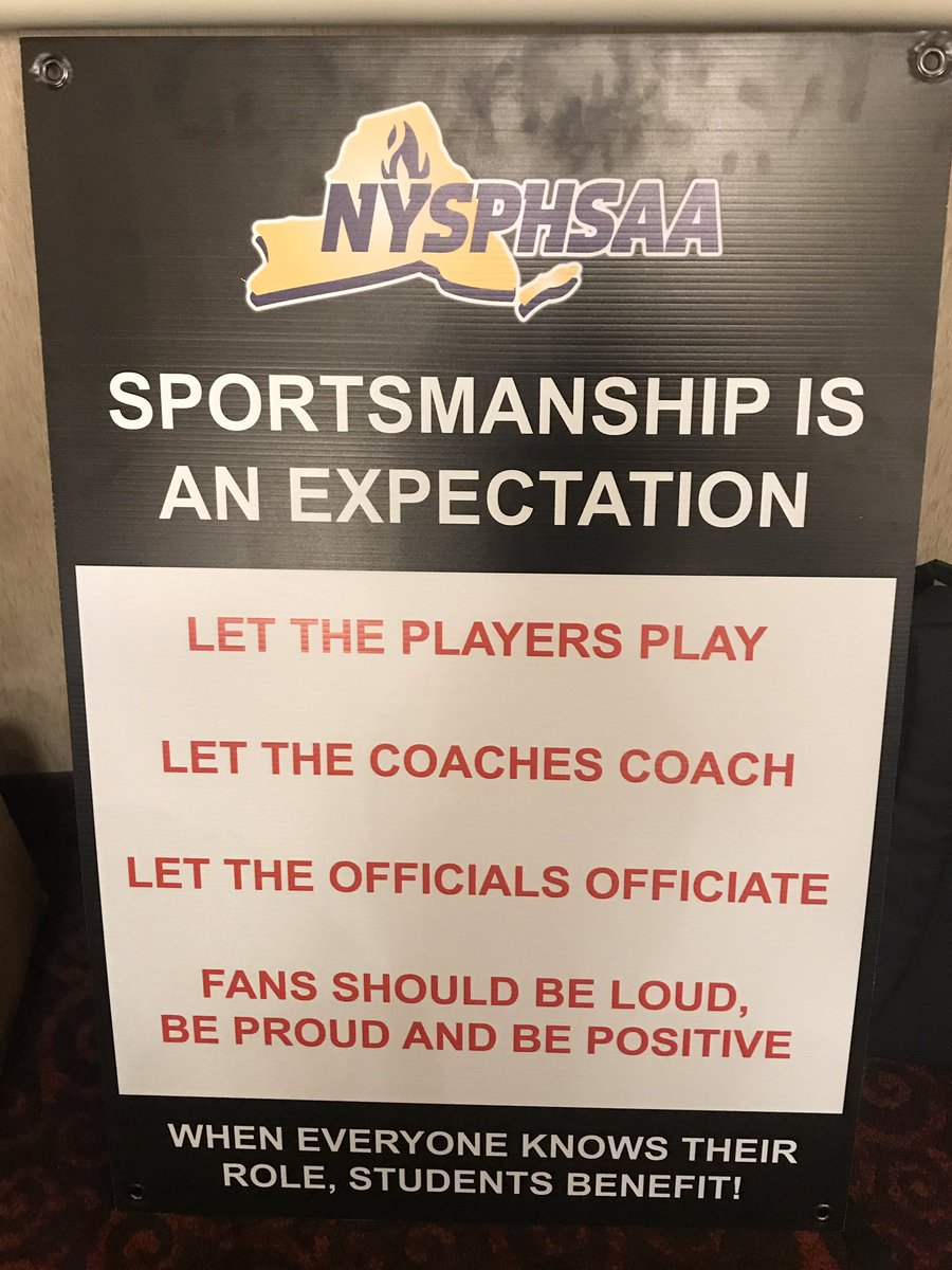 Coming soon to a school near you! #nysphsaa will be providing ever member school one of these signs to display at their school. Sportsmanship matters.