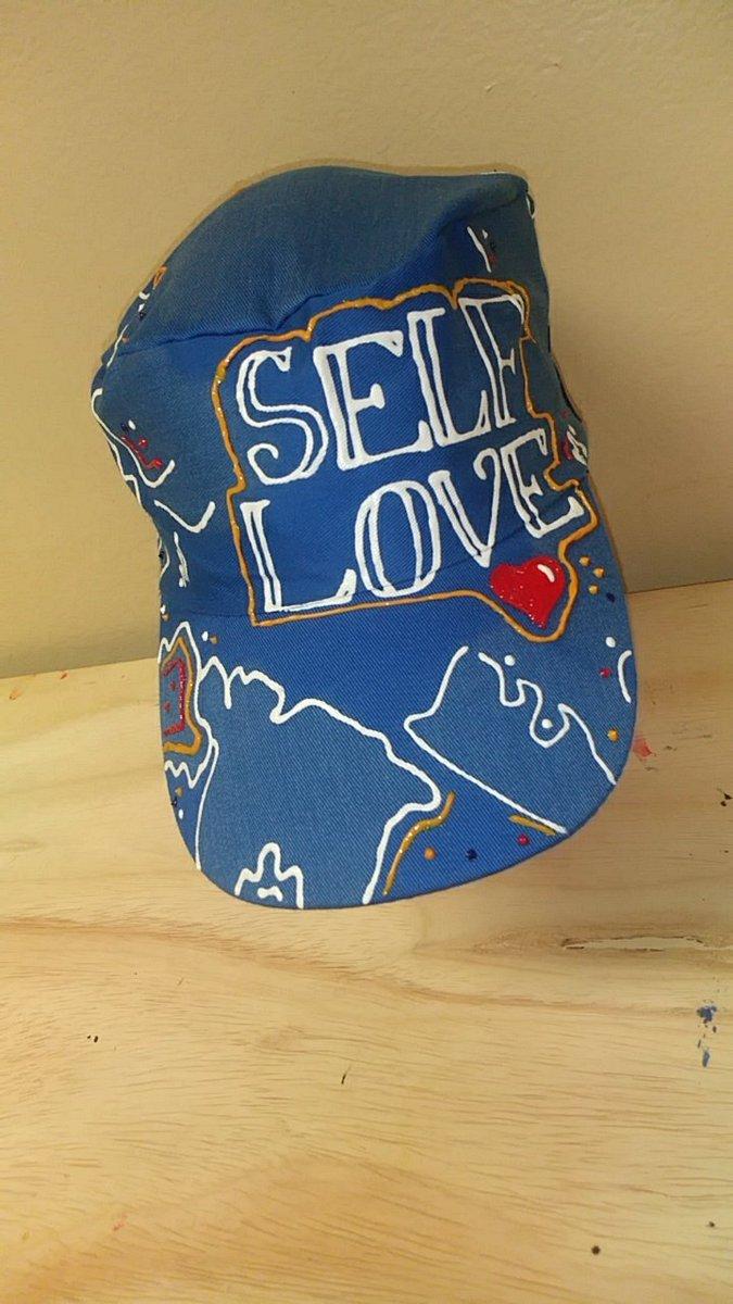 Now Available, Artist Design #SelfLove Hat 💥 It's A Snap Back Fits All So Order Today 💯  #WstSdeÄrt 🖌️ #BronxMade 🗽 #SelfLove 💥 #BuildUrDreamMovement 🤟 #ArtistDesign 💥 https://t.co/WM7dD7bx62