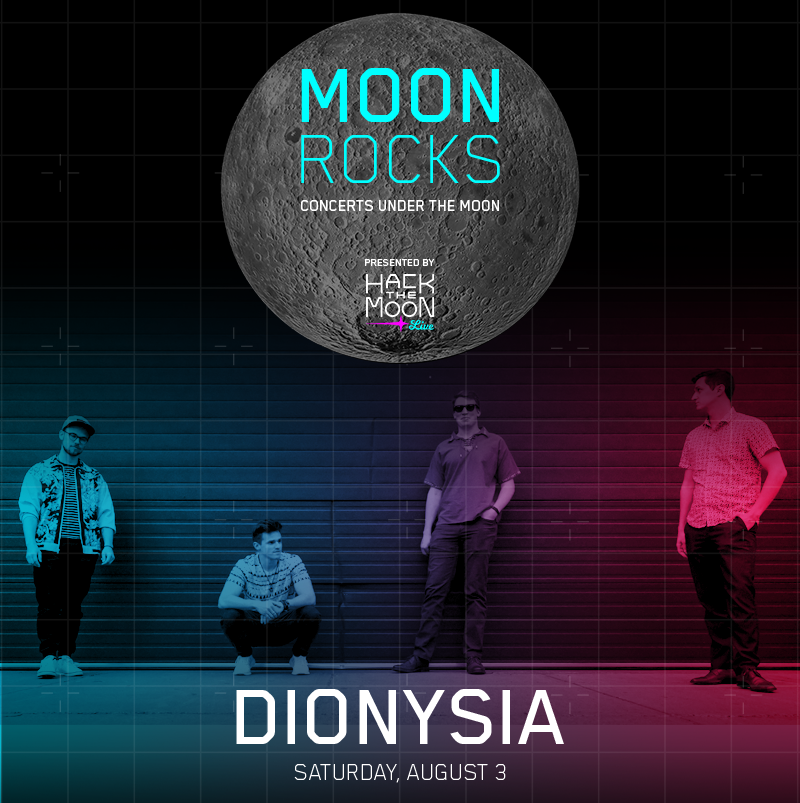 #MoonRocks kicks off Saturday at 7 PM with @DionysiaBand! Join us @draperlab for concerts under the #MuseumoftheMoon all through August. #hackthemoon bit.ly/2xlsEmb