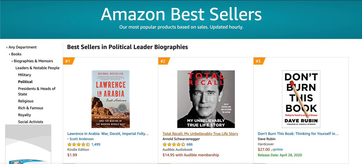 Best Selling Biographies 2020 Dave Rubin on Twitter: