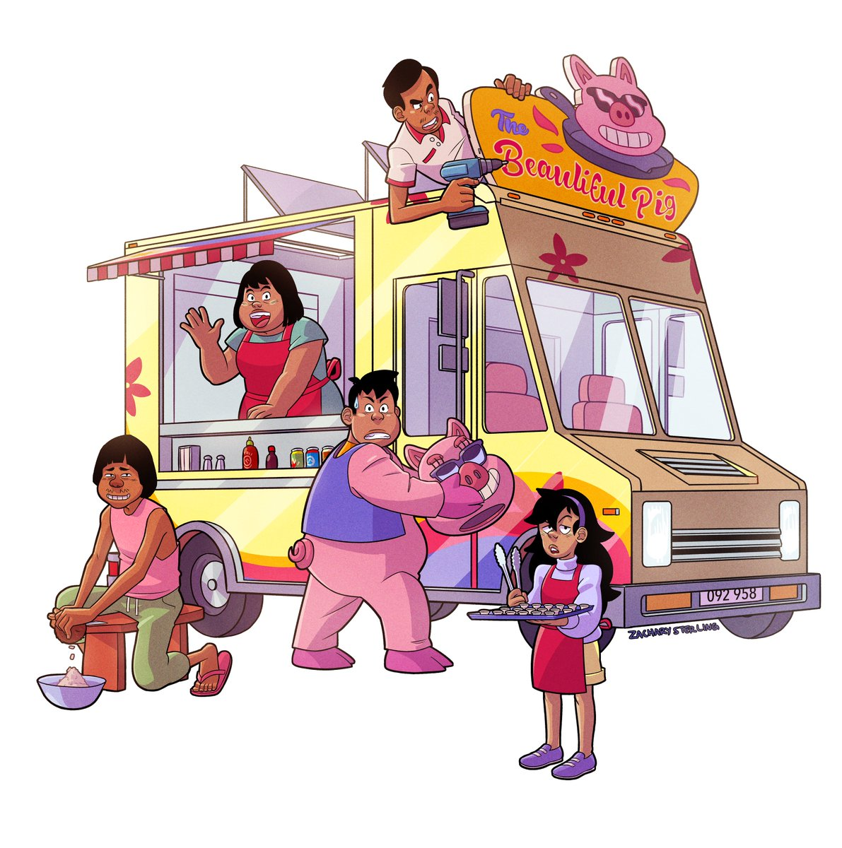 This family hopes that they can make it in the big city with their delicious, lovingly made Filipino food! (as long as nothing spooky gets in the way...)