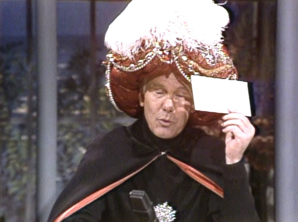 """RetronewsNow on Twitter: """"Carnac: 2001 Carnac: How many newspapers are  piled up on Jimmy Hoffa's front porch? — Johnny Carson, 'The Tonight Show'  (April 1982)… https://t.co/CUICDedjUP"""""""