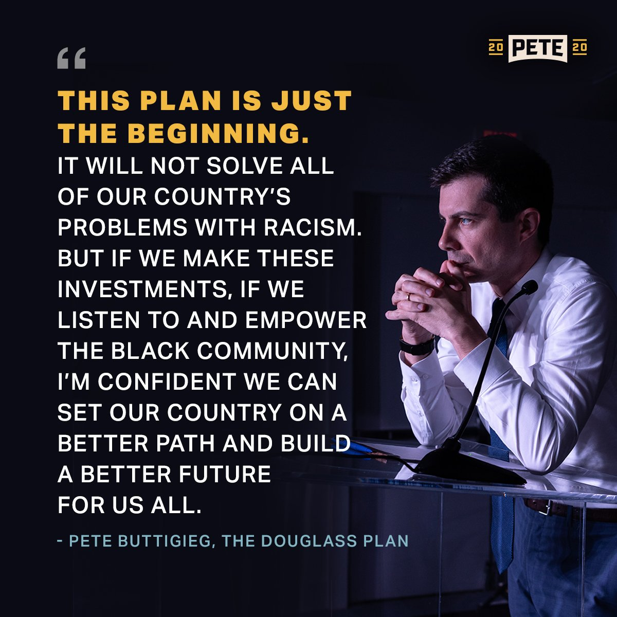 If we don't tackle racial injustice, it will upend the American Project in my lifetime. #DemDebate