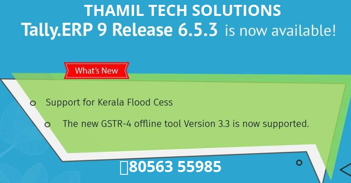 GST @ TALLY - @thamil_tech Twitter Profile and Downloader
