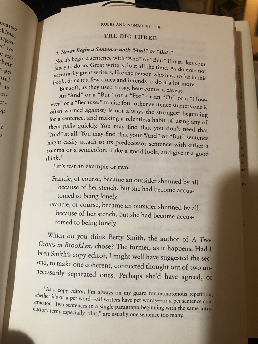 """Rebecca Renner on Twitter: """"Someone in the #WritingCommunity had asked  about starting sentences with conjunctions. Benjamin Dreyer has a really  good answer in Dreyer's English, which you should pick up if you"""