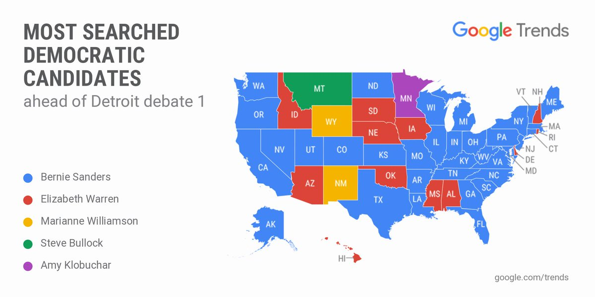 RT @GoogleTrends: Before and after: the #DemDebate in search.  More data: https://t.co/I0WiP79wjV  #CNNDebate https://t.co/Ebr8r1Asnw