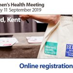 Image for the Tweet beginning: Upcoming women's health meeting in