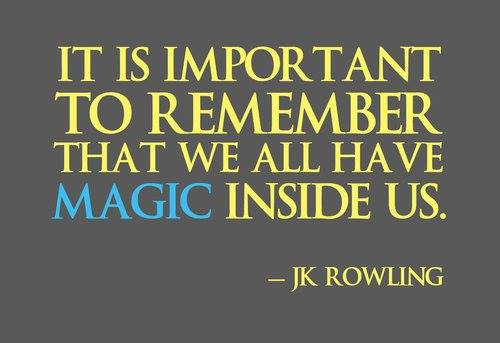 Happy Wednesday! Just a friendly reminder from JK Rowling of Harry Potter fame on her birthday.