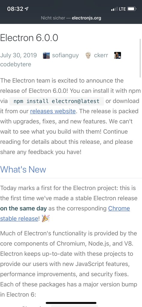 Electron on Twitter: