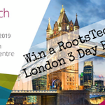 Image for the Tweet beginning: WIN a RootsTech London 3