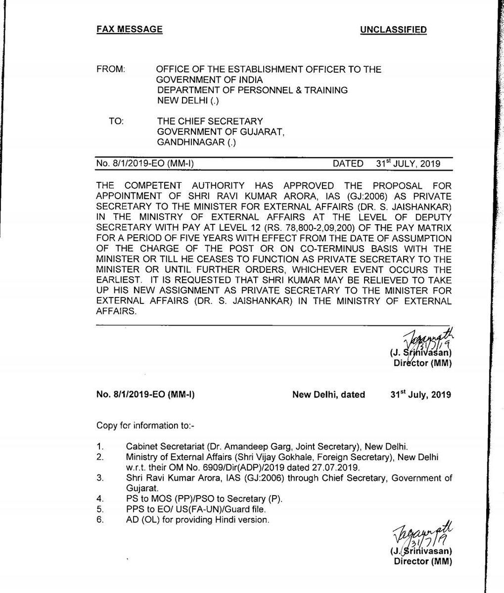 Gujarat cadre IAS appointed PS to MEA S Jaishankar