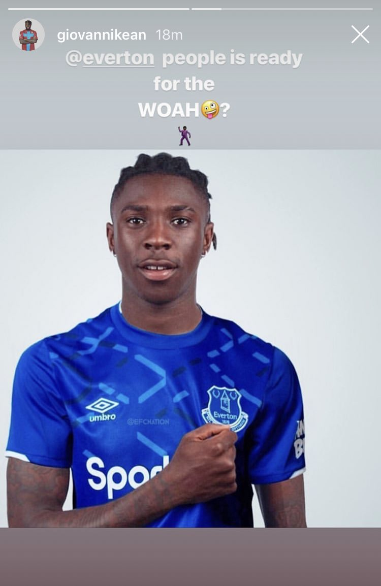 Transfer News Live On Twitter The Brother Of Moise Kean Giovanni Has Posted To His Instagram Story Make Of This What You Will Source Https T Co Usgwk3fonq Https T Co Gad1vyqrqx
