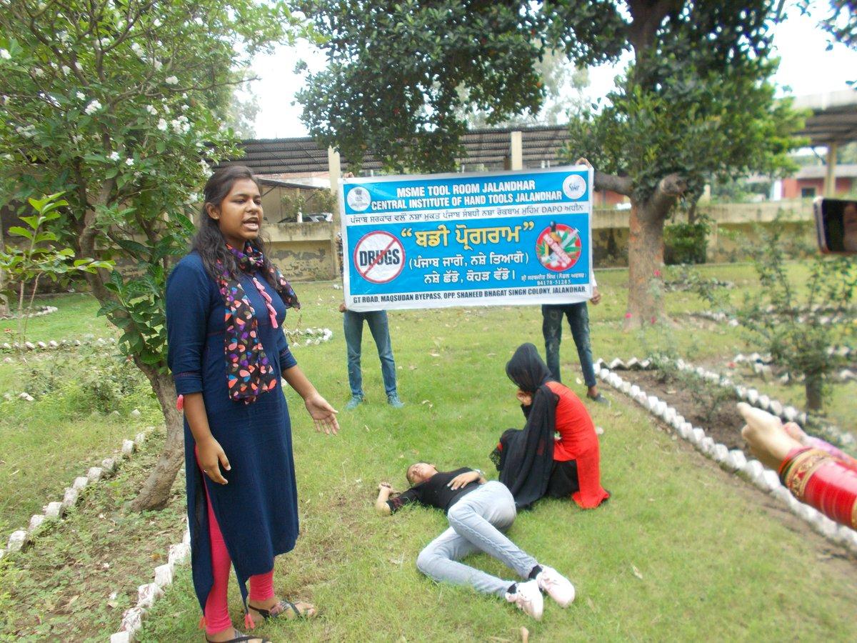 #MYMSME Nukkad Natak on anti Drug activity under Buddy Program organised @Ciht Jalandhar https://t.co/Rs4MwXGLDL