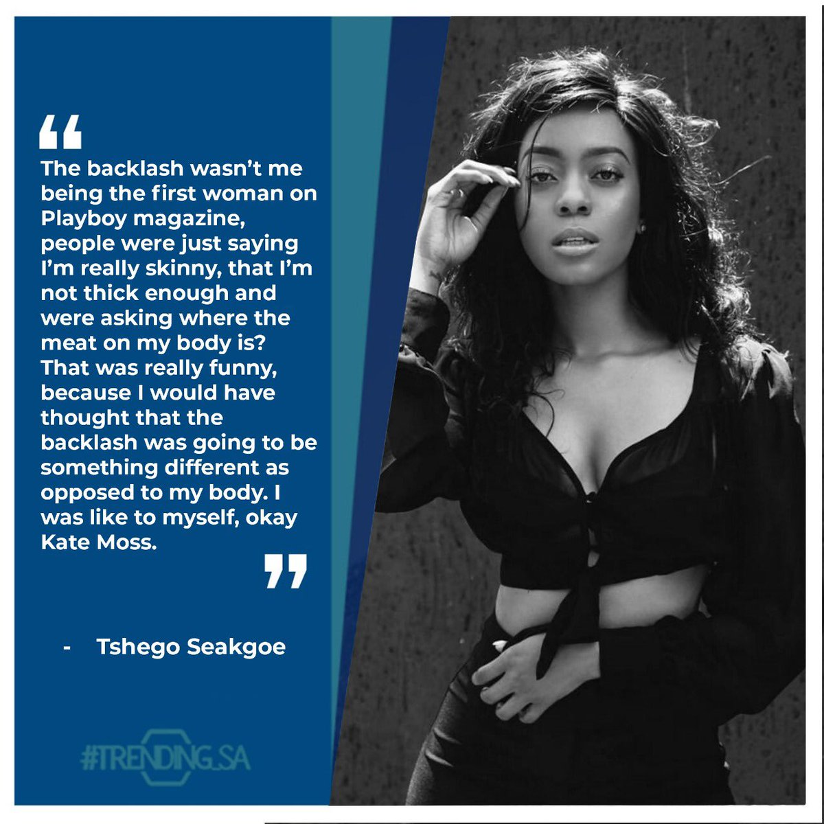 Model and Actress Tshego Seakgoe on the backlash she got when she was on the cover of Playboy. #tsaonline #tsaon3