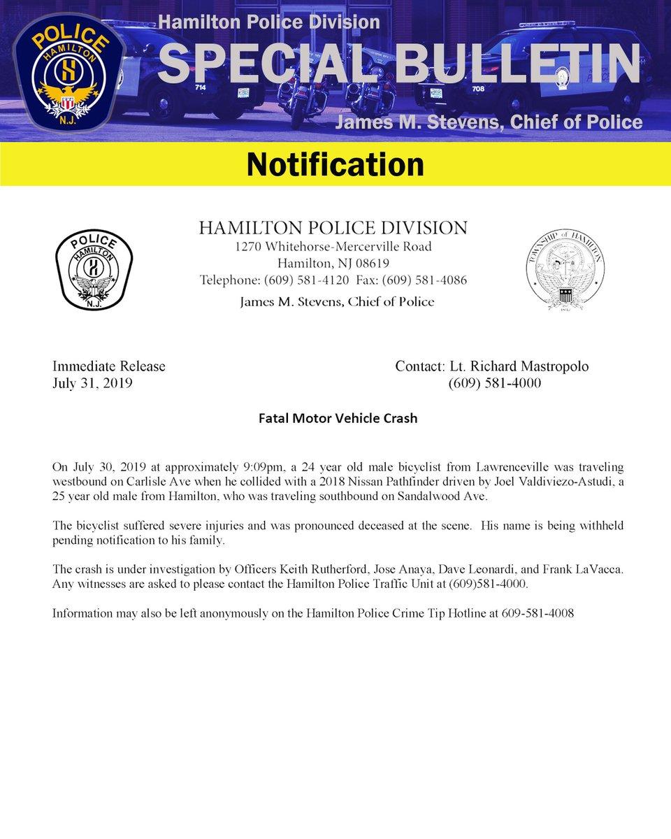 Hamilton Police NJ (@Hamilton_Police) | Twitter