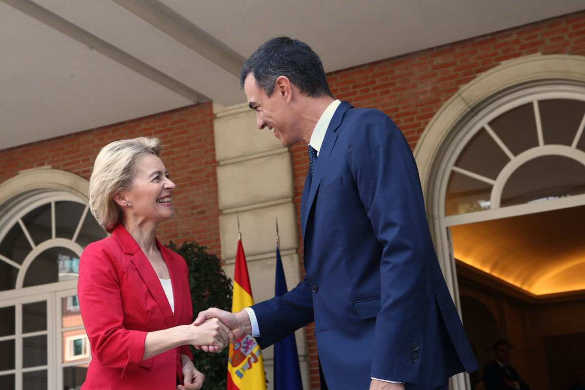 Meeting with @vonderleyen, President-elect of the @EU_Commission. Weve discussed some of the upcoming challenges in the EU, such as a European Green New Deal against #ClimateEmergency, Social Europe, migrations, digitisation, Brexit and an economy that serves people.