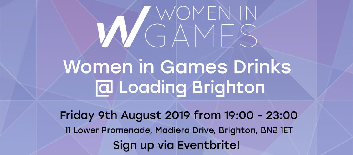 August's Women in Games Brighton Drinks is creeping upon us next Friday!  https://www. eventbrite.co.uk/e/monthly-wome n-in-games-drinks-tickets-61149231999  …  #womeningames #brightongamesindustry #gamesdrinks @wigj @Hangar13Games #2k<br>http://pic.twitter.com/OV92XW0PqM