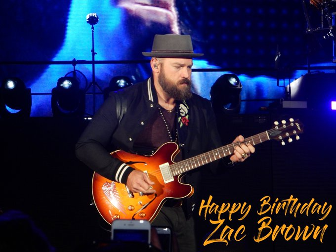 Wishing a very Happy Birthday to Zac Brown! We\ll see you in one month at
