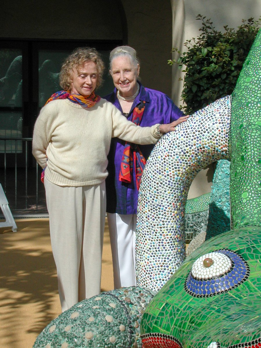 Here are some fave #Nikigator pics with artist #NikideSaintPhalle, Mingei Founder #MarthaLongenecker and Executive Director Rob Sidner. We look forward to Nikigator's unveiling at @ArtWalkSD in ARTS DISTRICT #LibertyStation, next weekend:  https:// mingei.org/events/special -event/mingei-at-art-walk-sat   …  #findart<br>http://pic.twitter.com/NYLVKL4zyV