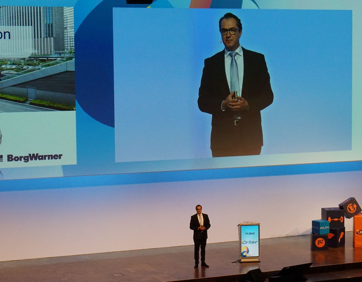 "#TBT ""Our mobility is being reinvented,"" says BorgWarner's Chief Technology Officer, Hakan Yilmaz at the #Dritev congress in Germany. During his lecture he talked about how BorgWarner sees the development of the propulsion system and the company's future strategy."