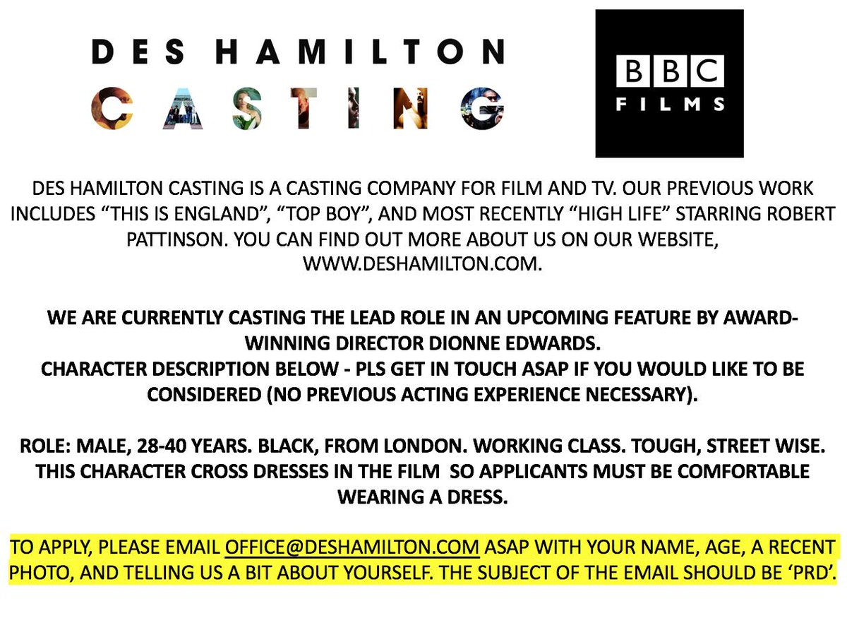 Des Hamilton Casting (@DesHCasting) | Twitter