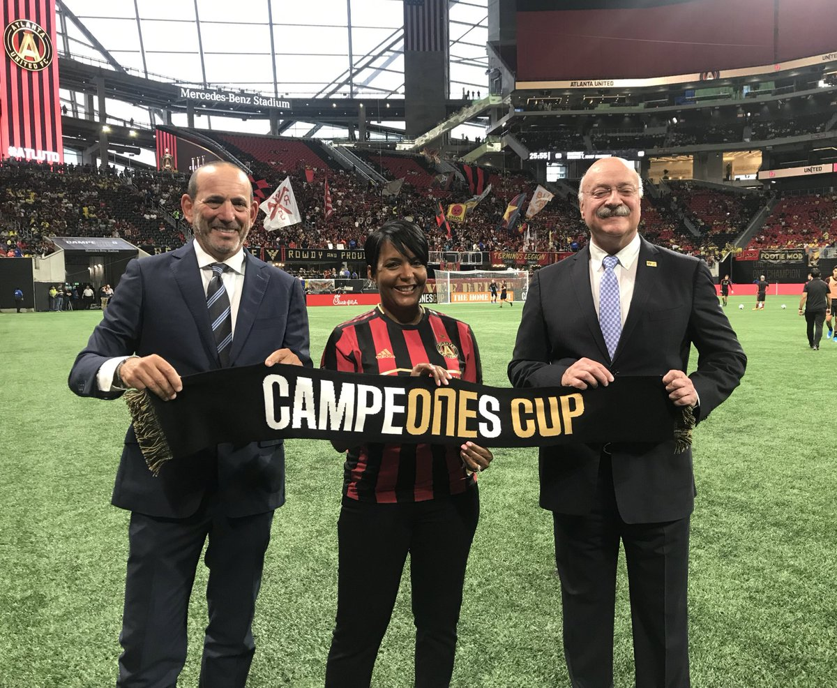 Thanks for your warm hospitality, Mayor @KeishaBottoms! #CampeonesCup
