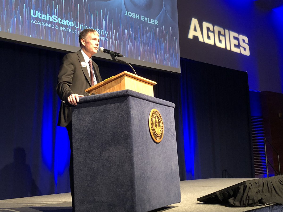 """Provost Galey's plenary address on """"Excellence in Teaching"""" centers on the importance of the work done in the classroom. The time we invest in our students and helping them to succeed is integral to the success of the university #LandGrantFierce #ETE2019 #FacDev<br>http://pic.twitter.com/hHoJqGFq9g – à Utah State University"""