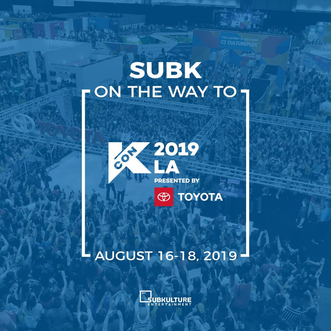 We're headed to KCON 2019 LA this weekend! Make sure to come by our booth for raffle giveaways (i.e, SubK Golden Ticket, Hi-Touch Passes, signed albums, etc), games, a photo booth, and shopping courtesy of @subkshop  See you there, SubK Squad  #KCON19LA <br>http://pic.twitter.com/zKY8CtXame
