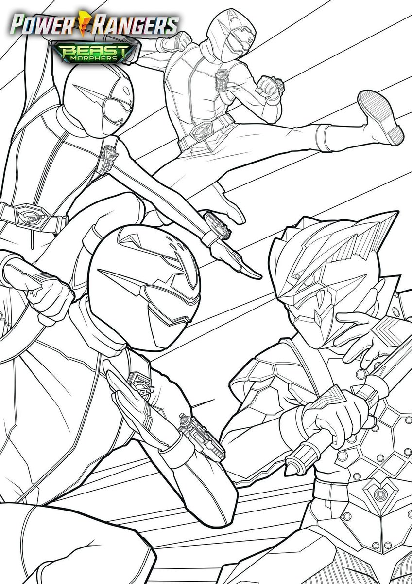 Power Rangers Now On Twitter Powerrangers Beast Morphers Coloring Pages Https T Co Am82sslcvv