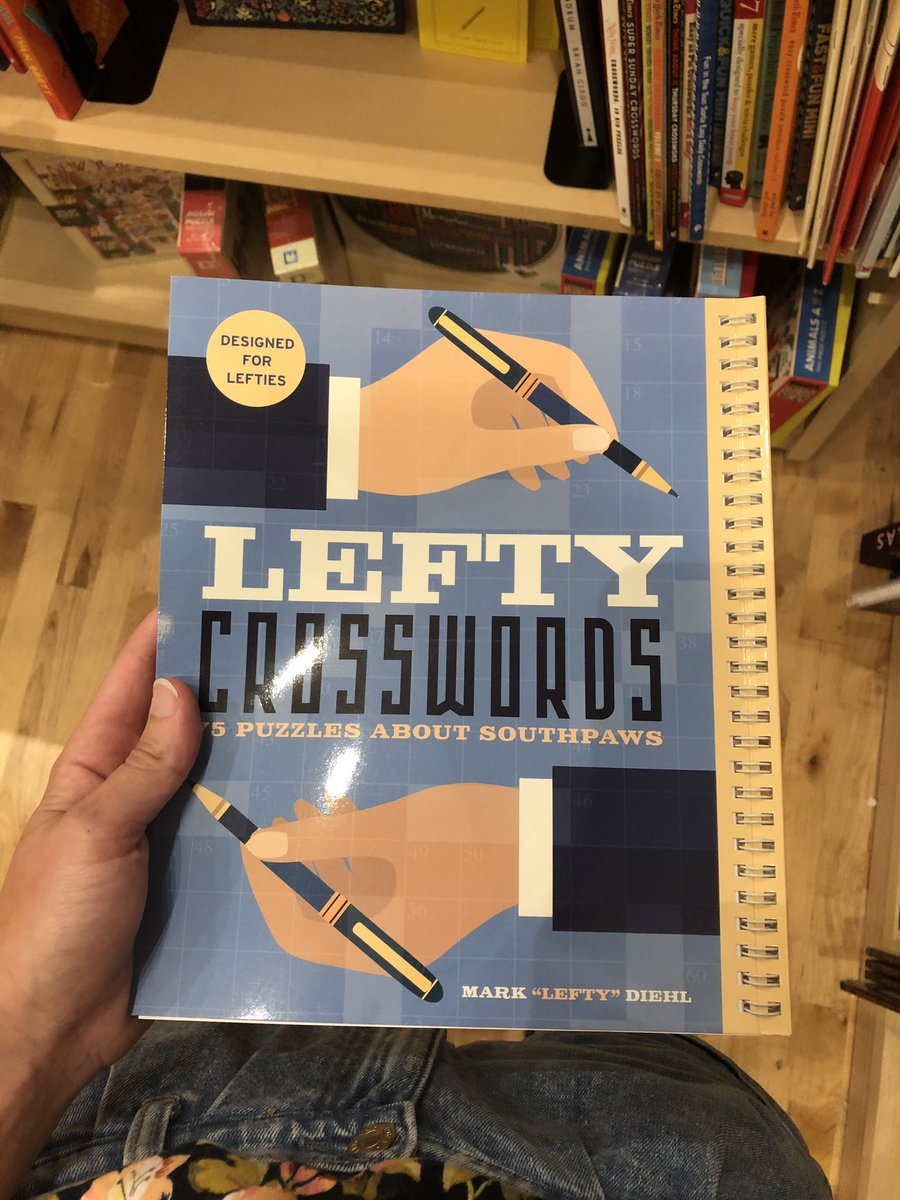 A day late, but lefties, here is a crossword book for you!! Binding on the right side!!!! #NationalLeftHandersDay