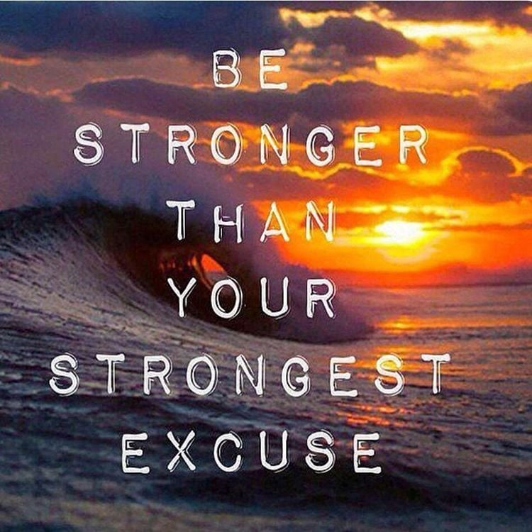 Be stronger than your strongest excuse! #YouCanDoIt!<br>http://pic.twitter.com/gzjrG2zBr1