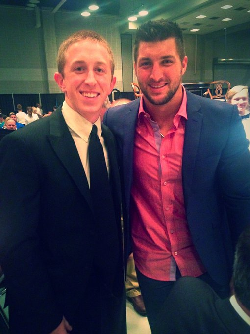 Happy Birthday to the one and only Tim Tebow.  (Shown here with former PC QB Riley Hall.