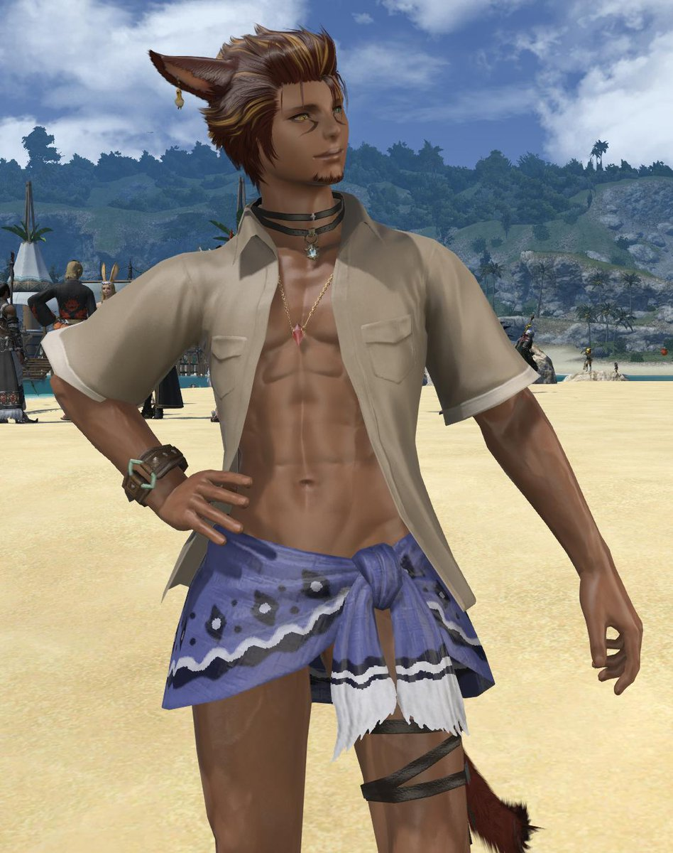 I finally made a summer glam for him that I don't hate/is something he'd actually wear... it's a miracle<br>http://pic.twitter.com/9GMOpOD78G