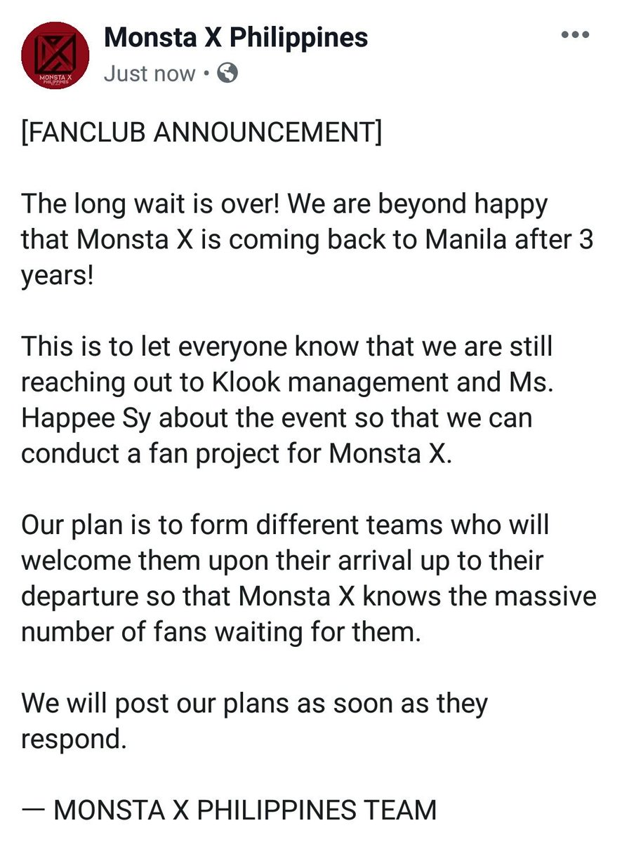 [FANCLUB ANNOUNCEMENT]  #MonstaX_KlookPH #MonstaXinManila @klooktravel_ph @happeehour @OfficialMonstaX @STARSHIPent <br>http://pic.twitter.com/htswQuck2R