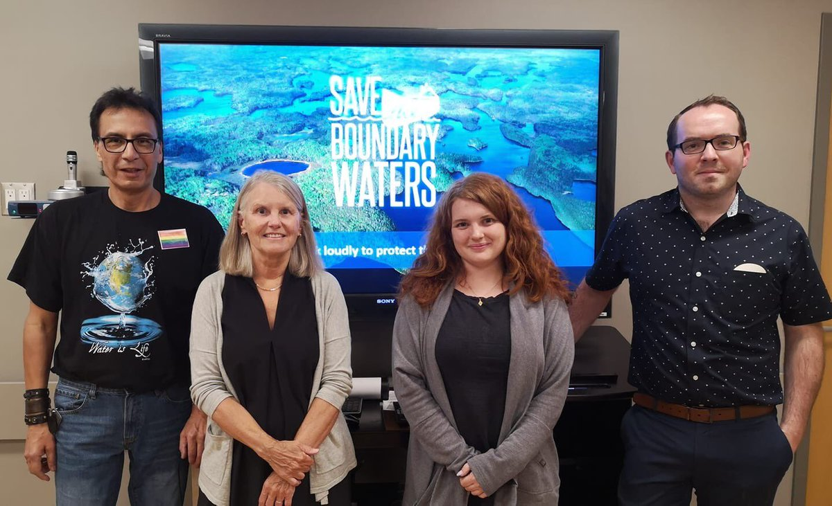 A pleasure to welcome Becky and Sydney from @savethebwca to @fort_frances and the @FFPLTC tonight! Miigwetch to Allan Yerxa from @Couch1stNation for speaking at this event.